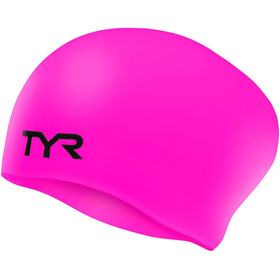 TYR Wrinkle-Free Long Hair Badmössa pink